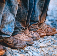 The boots of workers